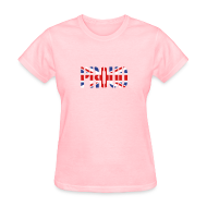 T-Shirts ~ Women's T-Shirt ~ PROUD Britain Flag, British Flag, Union Jack, UK Flag