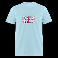 T-Shirts ~ Men's T-Shirt ~ Great Britain Flag, British Flag, Union Jack, UK Flag
