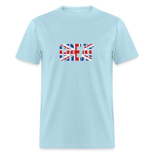Great Britain Flag, British Flag, Union Jack, UK Flag - Men's T-Shirt