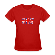 T-Shirts ~ Women's T-Shirt ~ Great Britain Flag, British Flag, Union Jack, UK Flag