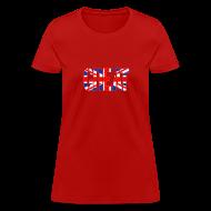 Women's T-Shirts ~ Women's T-Shirt ~ Great Britain Flag, British Flag, Union Jack, UK Flag