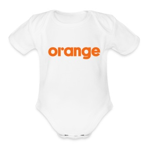White onesee - Short Sleeve Baby Bodysuit