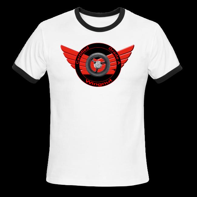 Men's L/W Ringer T-Front-Grade A wingnut
