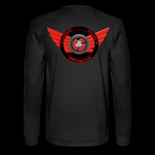 Men's LS Hanes T-Back-Grade A wingnut - Men's Long Sleeve T-Shirt