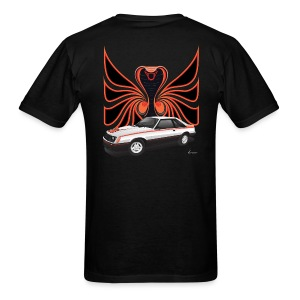 1980 Mustang Cobra - Polar White - BACK - Men's T-Shirt