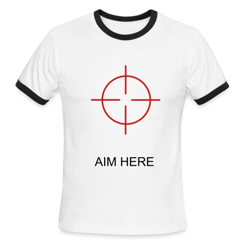 AIM HERE top - Men's Ringer T-Shirt