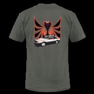 T-Shirts ~ Men's T-Shirt by American Apparel ~ 1980 Mustang Cobra - Polar White - BACK