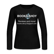 Long Sleeve Shirts ~ Women's Long Sleeve Jersey T-Shirt ~ Books Ahoy Women's Long-Sleeved T-shirt (black)