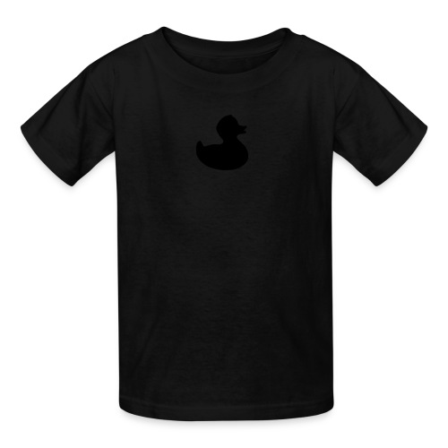 duckie - fuzzy black on black - Kids' T-Shirt
