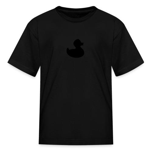 duckie - fuzzy black on black - Kids' T-Shirt