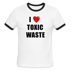I LOVE TOXIC WASTE REAL GENIUS Movie T-Shirt-Blue Ringer - Men's Ringer T-Shirt
