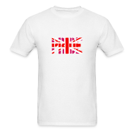 T-Shirts ~ Men's T-Shirt ~ Gay Pride Britain Flag, Pink British Flag, Pink Union Jack, UK Flag