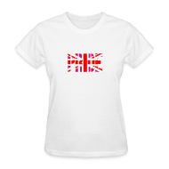 T-Shirts ~ Women's T-Shirt ~ Gay Pride Britain Flag, Pink British Flag, Pink Union Jack, UK Flag
