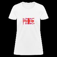 Women's T-Shirts ~ Women's T-Shirt ~ Gay Pride Britain Flag, Pink British Flag, Pink Union Jack, UK Flag