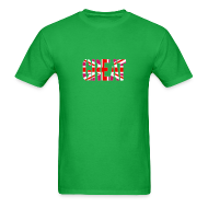 T-Shirts ~ Men's T-Shirt ~ Gay Great Britain Flag, Pink British Flag, Pink Union Jack, UK Flag