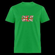 T-Shirts ~ Men's T-Shirt ~ Gay Great Britain Flag, Pink British Flag, Pink Union Jack, UK Flag