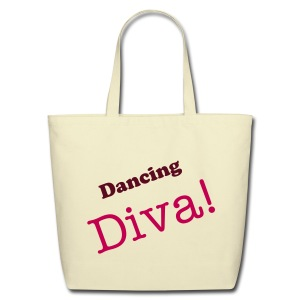 Dancing Diva Blk/White/Red Tote - Eco-Friendly Cotton Tote