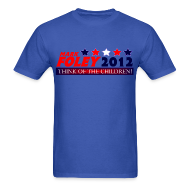 T-Shirts ~ Men's T-Shirt ~ Foley 2012 Think Of The Children Cruel, Political T-Shirt!