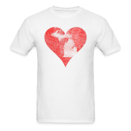 T-Shirts ~ Men's T-Shirt ~ Mi Distressed Heart Men's Standard Weight T-Shirt