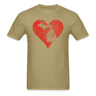 T-Shirts ~ Men's T-Shirt ~ Mi Distressed Heart Men's Standard Weight T-Shirt