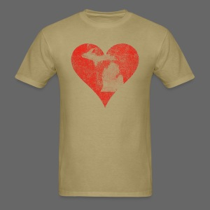 Mi Distressed Heart Men's Standard Weight T-Shirt - Men's T-Shirt