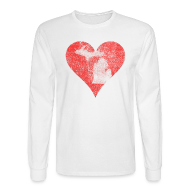Long Sleeve Shirts ~ Men's Long Sleeve T-Shirt ~ Mi Distressed Heart Men's Long Sleeve T-Shirt