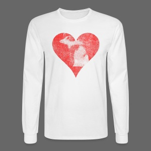 Mi Distressed Heart Men's Long Sleeve T-Shirt - Men's Long Sleeve T-Shirt