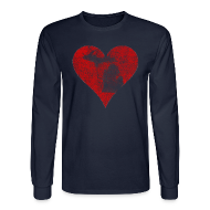 Long Sleeve Shirts ~ Men's Long Sleeve T-Shirt ~ Mi Distressed Heart Men's Long Sleeve T-Shirt