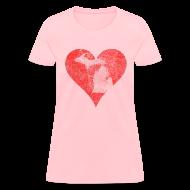 Women's T-Shirts ~ Women's T-Shirt ~ Mi Distressed Heart Women's Standard Weight T-Shirt