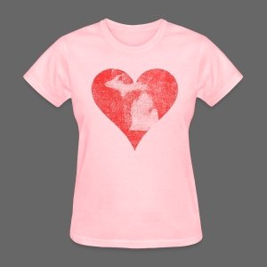 Mi Distressed Heart Women's Standard Weight T-Shirt - Women's T-Shirt