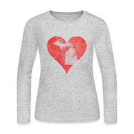 Long Sleeve Shirts ~ Women's Long Sleeve Jersey T-Shirt ~ Mi Distressed Heart Women's Long Sleeve T-Shirt
