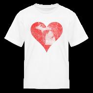 Kids' Shirts ~ Kids' T-Shirt ~ Mi Distressed Heart Children's T-Shirt