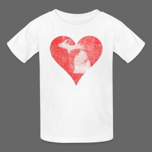 Mi Distressed Heart Children's T-Shirt - Kids' T-Shirt