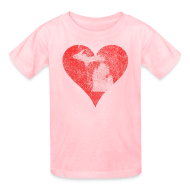 Kids' Shirts ~ Kids' T-Shirt ~ Mi Distressed Heart Children's T-Shirt