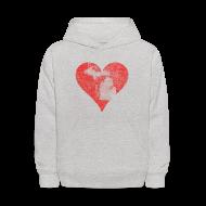 Sweatshirts ~ Kids' Hoodie ~ Mi Distressed Heart Kid's Hooded Sweatshirt