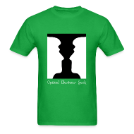 T-Shirts ~ Men's T-Shirt ~ Optical Illusions Suck Funny T-Shirt