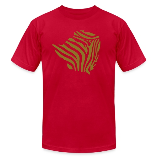 ZIMBABWE ZEBRA - Men's T-Shirt by American Apparel