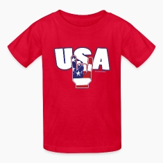 usa rocks 4th of July Kids' Shirts