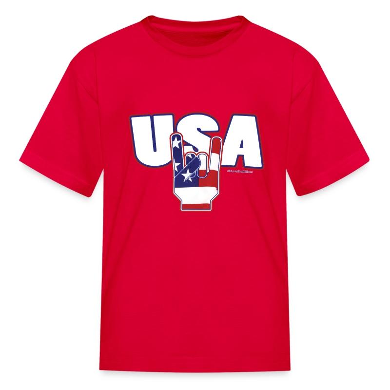 Usa Rocks 4th Of July T Shirt Spreadshirt