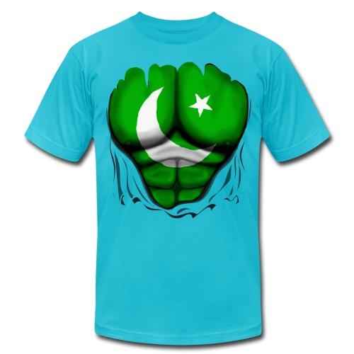 Pakistan Flag Ripped Muscles, six pack, chest t-shirt - Men's Jersey T-Shirt