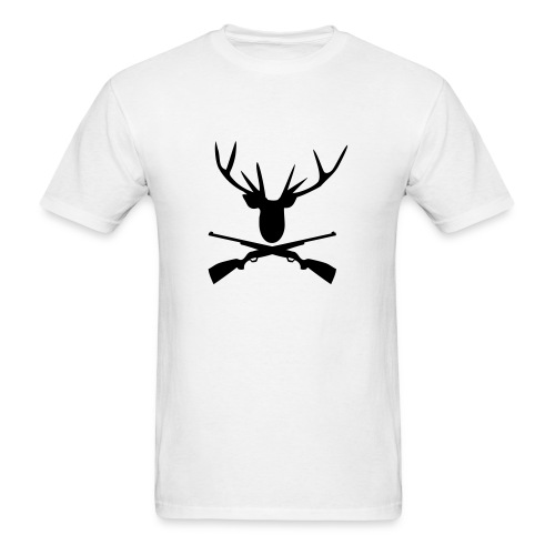 Deer with crossed rifles - Men's T-Shirt