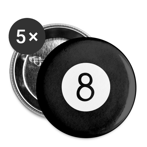 8Ball Buttons - Buttons large 2.2'' (5-pack)