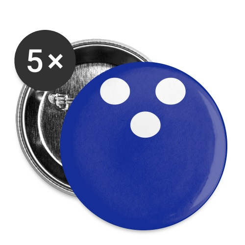 Bowling Ball Buttons - Buttons large 2.2'' (5-pack)