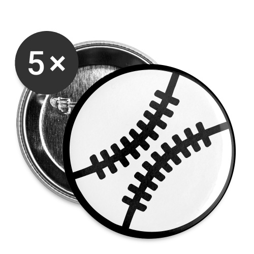Baseball Button - Buttons large 2.2'' (5-pack)