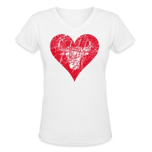 Bulls Heart - Women's V-Neck T-Shirt