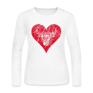 Bulls Heart - Women's Long Sleeve Jersey T-Shirt