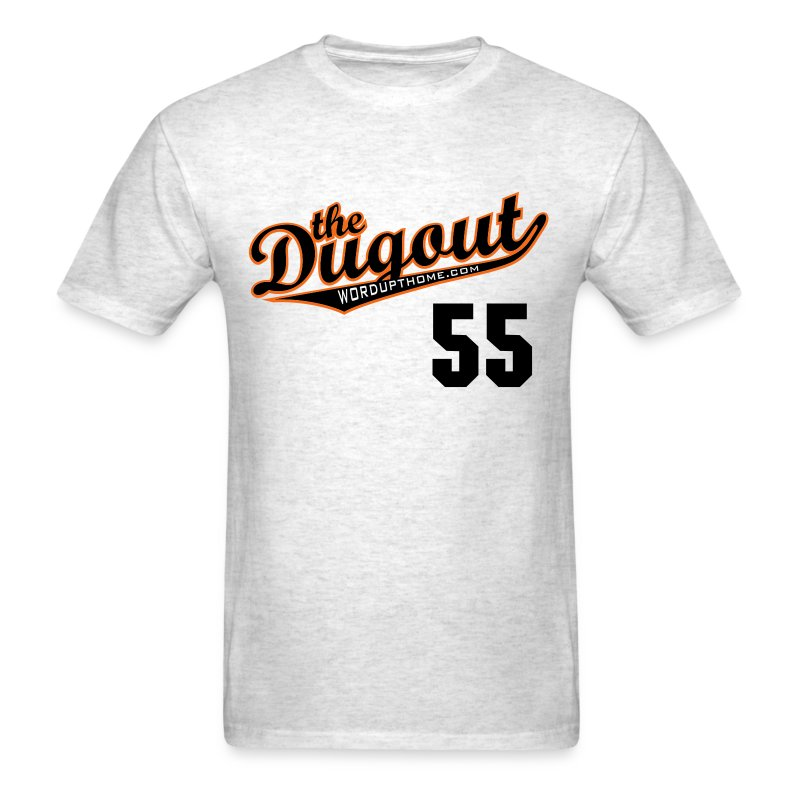 TimTheEnchanter #55 (Tim Lincecum) Giants Dugout T (Ash) - Men's T-Shirt