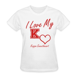 I Love My Kappa Sweetheart - Women's T-Shirt