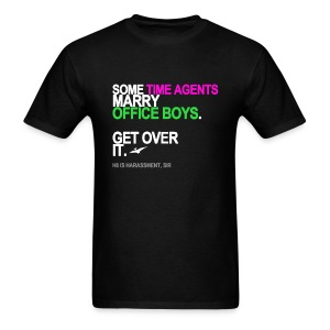 Some Time Agents Marry Office Boys Men's Black - Men's T-Shirt