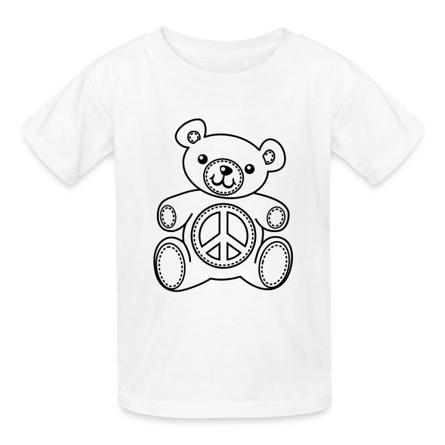 Coloring T Shirts Teddy Bear Coloring T Shirt Kids Shirts Kids T